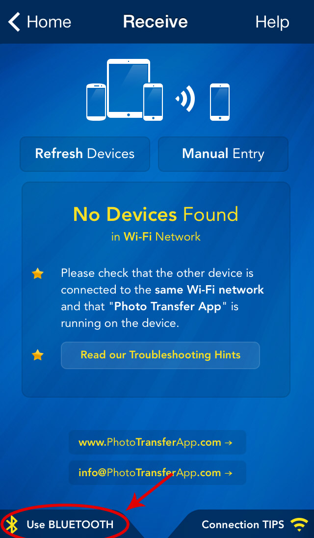 Photo Transfer App   iPhone Help Pages - Transfer from iDevice to