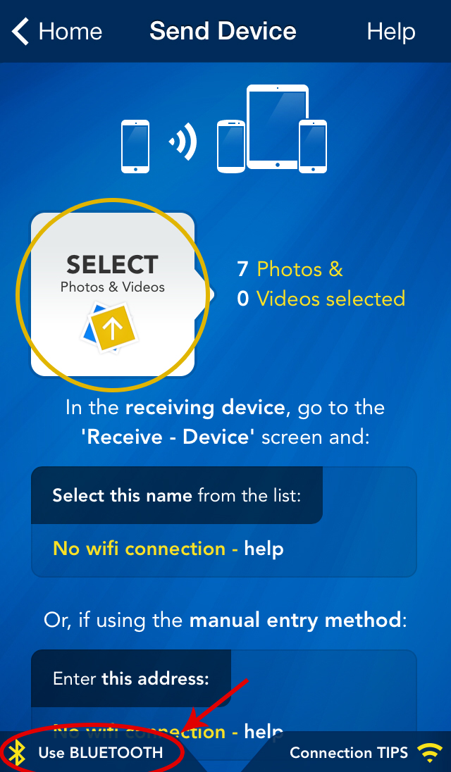 Photo Transfer App | iPhone Help Pages - Transfer from