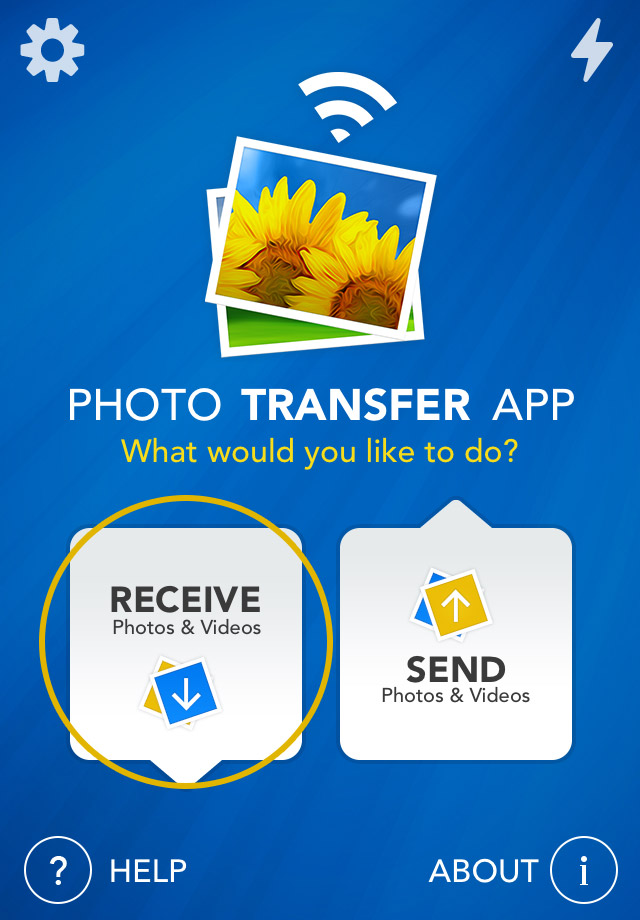 Photo Transfer App   iPhone Help Pages - Transfer from your